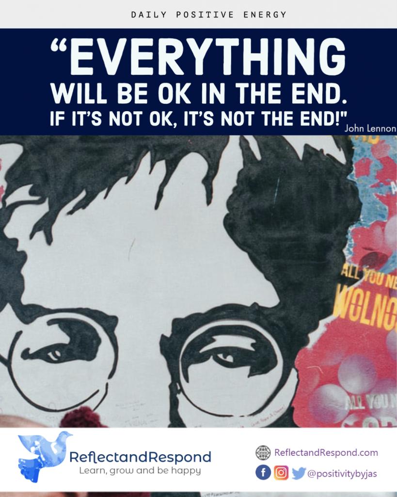 inspiring positive quote john lennon