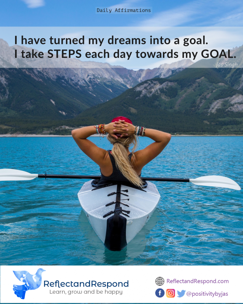 Daily affirmation goal dream and achieve