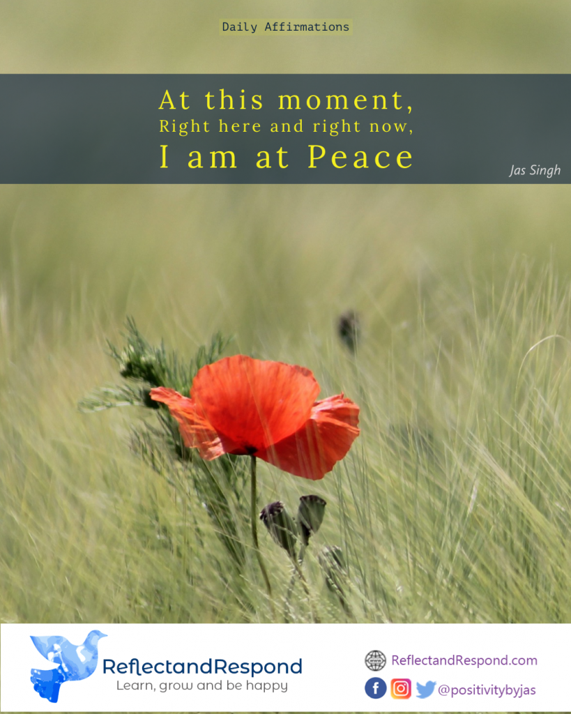 daily positive affirmation peace