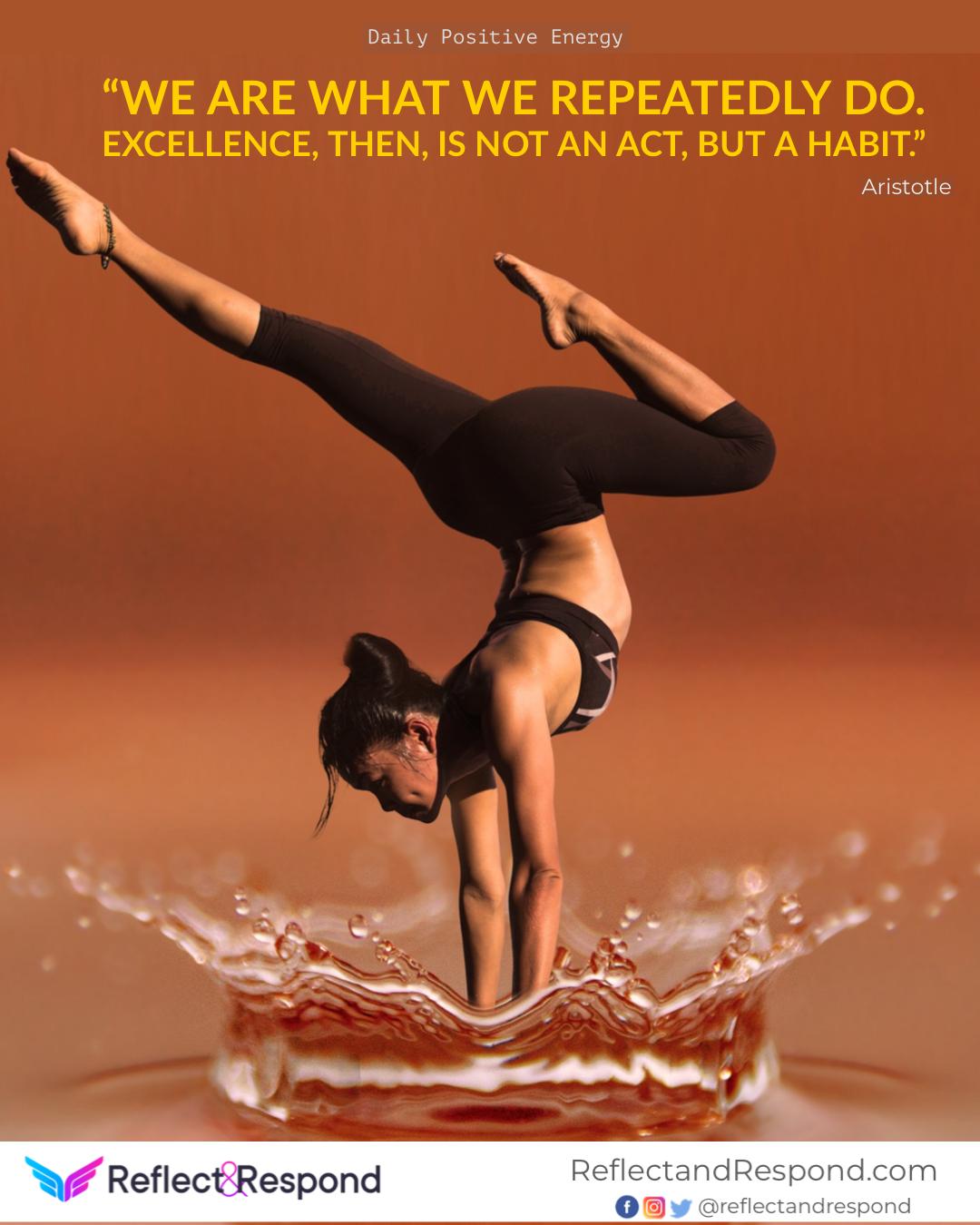 positive quotes Aristotle habit excellence