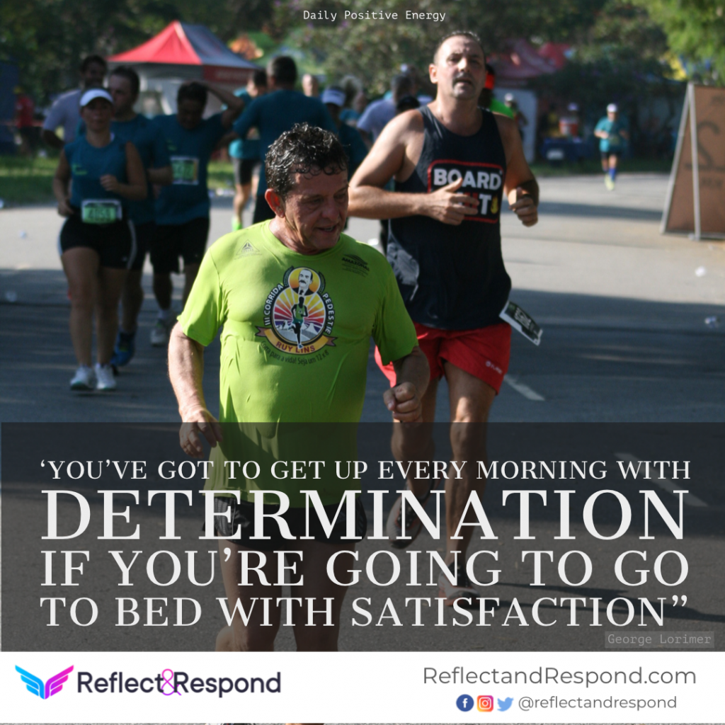 Positive quote determination George Lorimer