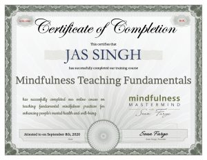 Jas Singh Certificate of Completion - ReflectandRespond