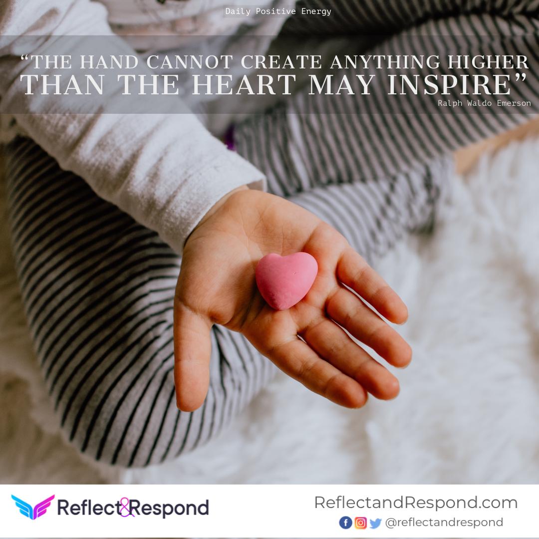 heart inspire quote Ralph Emerson