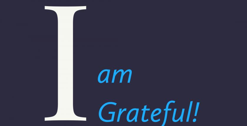 Affirmation: I am grateful