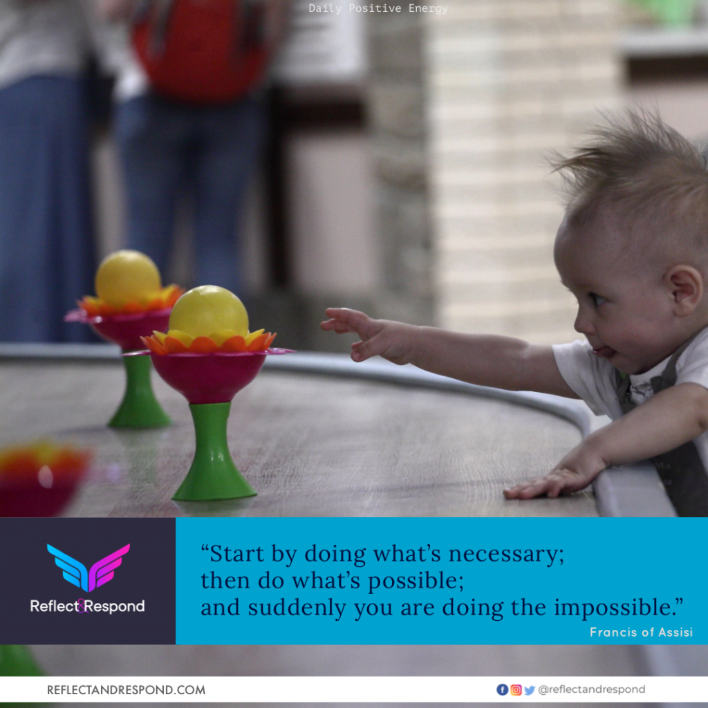 Quote: Start by doing whats necessary