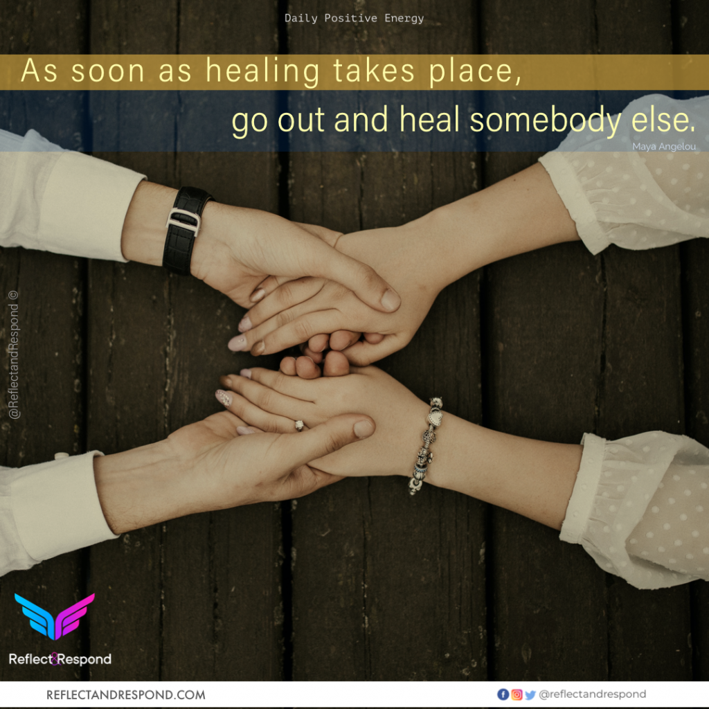As soon as healing takes place, go out and heal somebody else