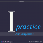 Affirmation I practice Non Judgment