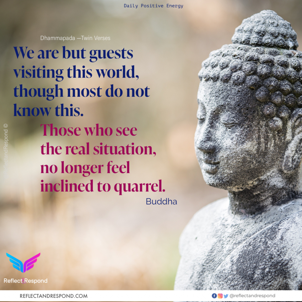 Zen Buddha We are guests