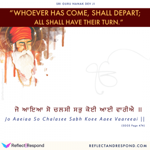 Guru Nanak Jo aaeiaa so chalasee