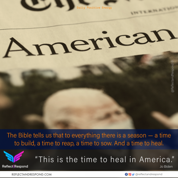 Jo Biden: This is the time to Heal in America