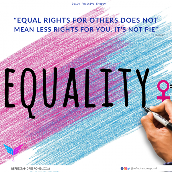 Equal rights for others does not mean less rights for you