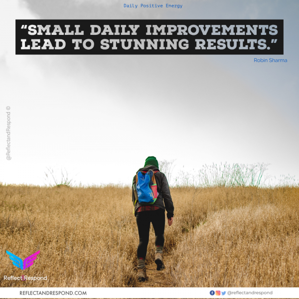 Small Daily Improvements-lead-to-stunning-results-robin-sharma-quotes