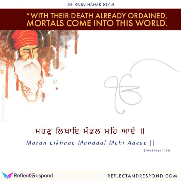 Guru Nanak with their death already ordained